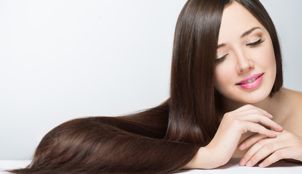 woman with soft silky hair
